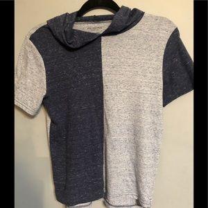 Arizona Boys Color Block Hooded Shirt